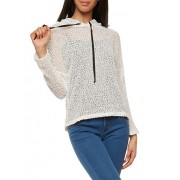 Sheer Popcorn Knit Hooded Top - Top - $5.99