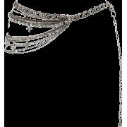 Silver Diamante Cross Chain Belt - Belt -
