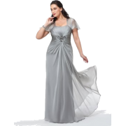 Silver evening gown - People -