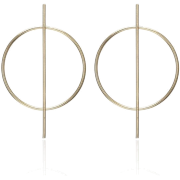 Simple Circle Hollow Long Earrings Nhpf141071 - 耳环 -