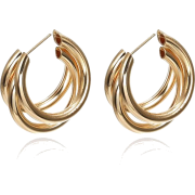 Simple Multi-layered C-shaped Alloy Hoop Earrings Nhpf147199 - 耳环 -