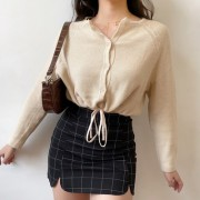 Single Breasted Short Knit Cardigan Wome - Hemden - kurz - $27.99  ~ 24.04€