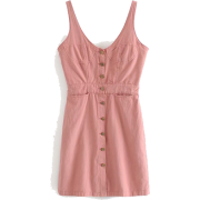 Single-breasted denim harness dress - Haljine - $27.99  ~ 177,81kn