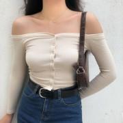 Single-breasted one-sleeve long-sleeved - My look - $25.99