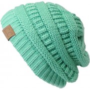 Slouchy Cable Knit Beanie Skully Hat - Hat - $4.99