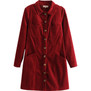 Small lapel single-breasted long-sleeved - Dresses - $29.99
