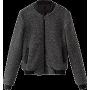 Small stand collar lamb hair flying jack - Jacket - coats - $49.99