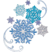 Snowflake Embroidery Element - イラスト -