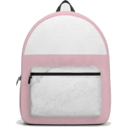 Society6 Backpack Marble And Dusty Pink - Backpacks - $69.99