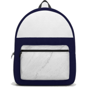 Society6 Backpack Marble White Blue - Backpacks - $69.99
