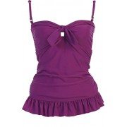 Solid Ruffle Tankini Swimsuit Top - Swimsuit - $39.99