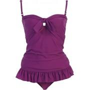 Solid Ruffle Tankini Swimsuit - Swimsuit - $59.99