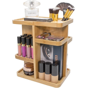 Sorbus 360° Bamboo Cosmetic Organizer, Multi-Function Storage Carousel for Makeup, Toiletries, and More - for Vanity, Desk, Bathroom, Bedroom, Closet, Kitchen - Accessories - $39.99