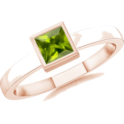 Square Green Peridot Ring - Anelli - $319.00  ~ 273.98€