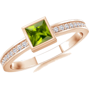 Square Peridot Ring - Anelli - $419.00  ~ 359.87€
