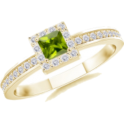 Square Peridot Ring - Anelli - $479.00  ~ 411.41€