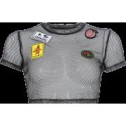 Street style hipop dance mesh blouse T-s - Shirts - $17.99