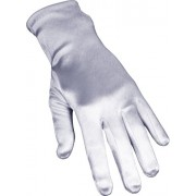Stretch Satin Dress Gloves Wrist Length, Color: Patine-Blue - Dresses - $9.99