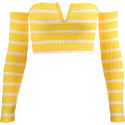 Striped knit top tube top - Shirts - $19.99