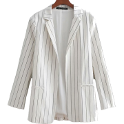 Striped mid-length ladies blazer - Bolero - $35.99