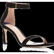 Stuart Weitzman Square Nudist Suede Sand - Sandals - $395.00
