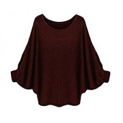 Suimiki Women's Batwing Sleeve Loose Blouse T Shirt Casual Pullover Top - Long sleeves t-shirts - $13.99