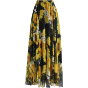 Sunflower Maxi Skirt - Skirts -