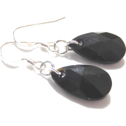 Swarovski Black Pendant Earrings - Earrings -