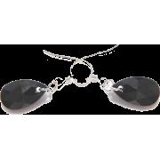 Swarovski Black Pendant Earrings - Naušnice -