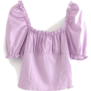 Sweet ruffled blouse pullover shirt - T-shirts - $26.99