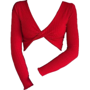 TWIST CROP SWEATER - Long sleeves shirts -