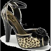 Tan Cheetah Print Ankle Strap Platform Sandal - 10 - Sandals - $44.20