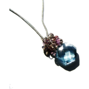 Teal Green Quartz Necklace Gem Cluster - Colares - $32.00  ~ 27.48€