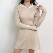 Temperament Knit Dress with Retro Button - Платья - $27.99  ~ 24.04€
