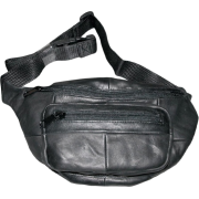 The Original Buxton Black Leather Bike Fannie Bag - Bag - $19.99