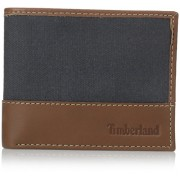 Timberland Men's Baseline Canvas Wallet with Removable Passcase - Wallets - $12.99