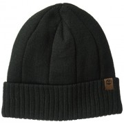 Timberland Men's Heathered Ribbed Watchcap, Black, One Size - Hat - $10.82