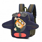 Toddler's Backpack,3D Airplane Cute Bear Toddler's Mini School Bag Backpack for Baby Girl Boy Age 2-6 Years,Navy - Backpacks - $18.56