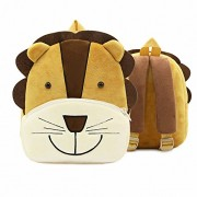 Toddler's Backpack,Cute Small Kids Backpack Plush 3D Animal Lion Mini Children Bag for Baby Girl Boy Age 1-3 Years Old - Backpacks - $12.99
