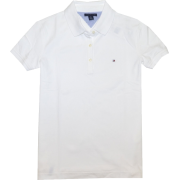 Tommy Hilfiger Women Classic Fit Logo Polo T-Shirt White - T-shirts - $34.99