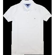 Tommy Hilfiger Women Classic Fit Logo Polo T-Shirt White - T-shirt - $34.99  ~ 30.05€