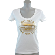 Tommy Hilfiger Womens Solid Color Graphic T-Shirt White - T-shirts - $29.99