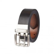 Tommy Hilfiger Reversible Leather Belt - Casual for Mens Jeans with Double Sided Strap and Silver Buckle - Accesorios - $15.17  ~ 13.03€