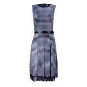 Tommy Hilfiger Women's Belted Houndstooth Fit & Flare Dress - Flats - $64.98