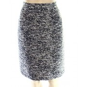 Tommy Hilfiger Womens Tweed Textured Pencil Skirt Black 14 - Flats - $25.67