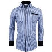 Tom's Ware Mens Classic Slim Fit Vertical Striped Longsleeve Dress Shirt - Shirts - $29.99
