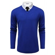 Tom's Ware Mens Classic V-Neck Long Sleeve Sweater - Shirts - $31.99