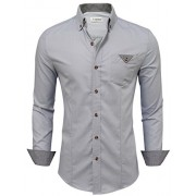 Tom's Ware Mens Inner Plaid Oxford Cotton Button Down Dress Shirts - Shirts - $39.99