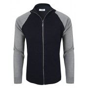 Tom's Ware Mens Stylish Colorblocked Full Zip Cardigan - Shirts - $27.99