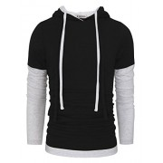 Tom's Ware Mens Stylish Two Toned Single Jersey Drawstring Hoodie - Shirts - $27.99
